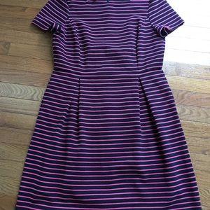 Talbots A-Line Stripe Dress 12